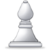 White Chess Bishop