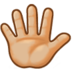 Hand with Fingers Splayed: Medium-Light Skin Tone