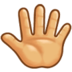 Reversed Raised Hand with Fingers Splayed
