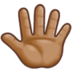 Reversed Raised Hand with Fingers Splayed + Emoji Modifier Fitzpatrick Type-4