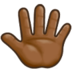 Reversed Raised Hand with Fingers Splayed + Emoji Modifier Fitzpatrick Type-5