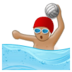 Person Playing Water Polo: Medium Skin Tone