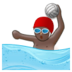 Person Playing Water Polo: Dark Skin Tone