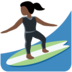 Woman Surfing: Dark Skin Tone