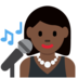 Woman Singer: Dark Skin Tone